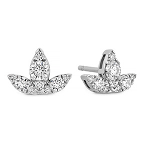 Aerial Triple Diamond Stud Earrings - S