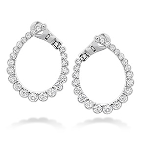 Aerial Regal Diamond Hoop Earrings