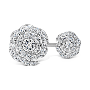 Lorelei Diamond Double Floral Ring